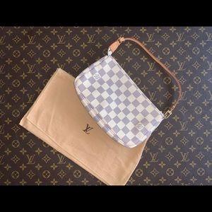 Authentic Louis Vuitton damier azur pochette bag